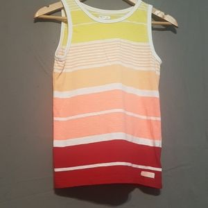 2/$25 multicolored striped Gap Kids muscle shirt